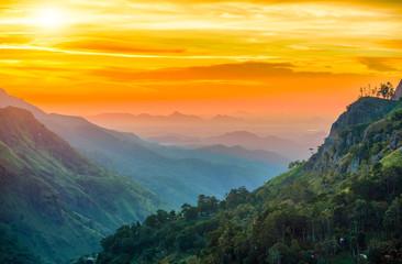 Obraz Sunset in the valley near the town of Ella, Sri Lanka