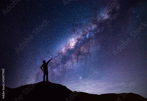 Fotografie, Obraz  Milky Way landscape
