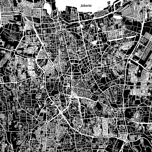 Photo Jakarta Vector Map
