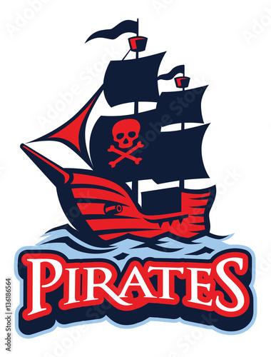 Plakat Maskotka statku piratów