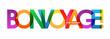 BON VOYAGE Colourful Letters Banner