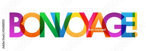 Fototapeta BON VOYAGE Colourful Letters Banner