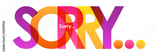 Foto SORRY Vector Letters icon
