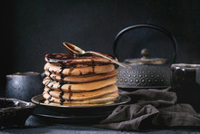 Ombre Chocolate Pancakes