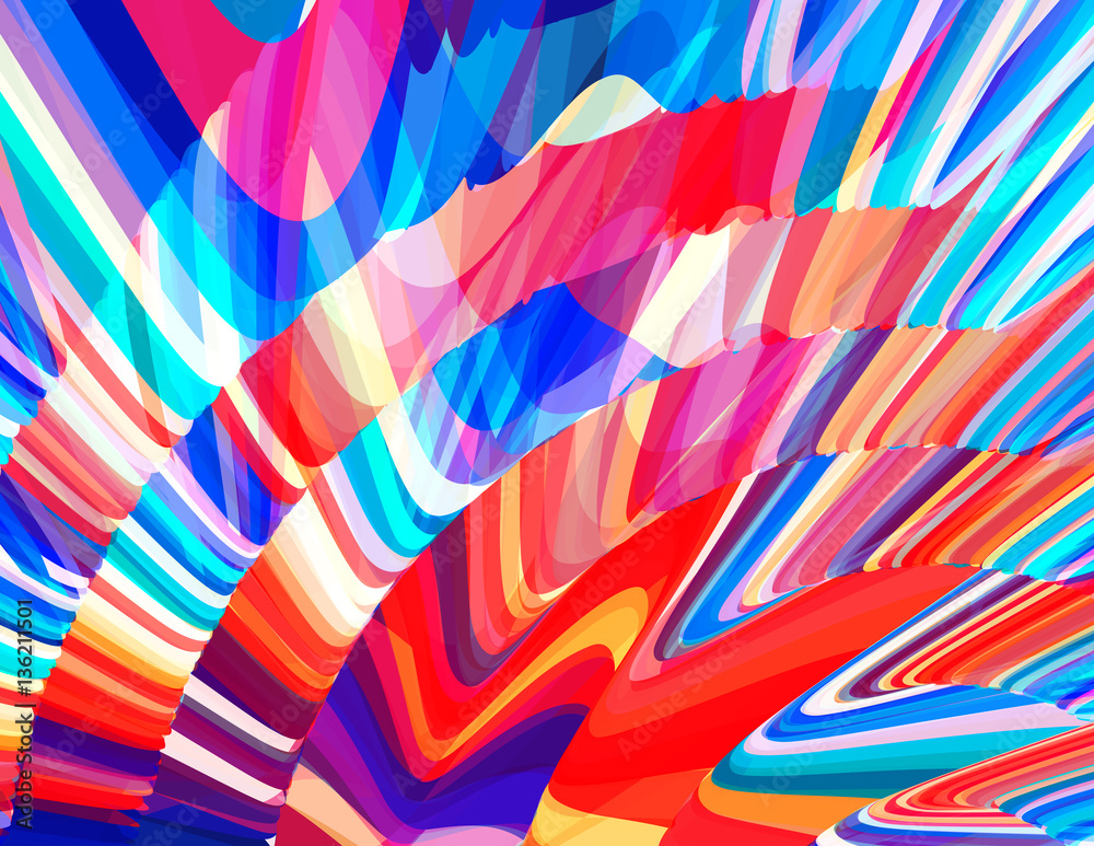 Fototapety, obrazy: Motley colors background. Vibrant vector graphics