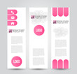 Banner template. Abstract background for design business education advertisement. Pink color. Vector illustration.
