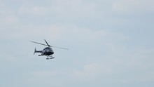 Closeup Of A Private Helicopte...