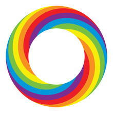 Vector Rainbow Round Wheel Circle