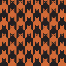 CatsTooth Pattern In Oranage A...