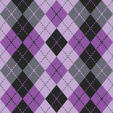Dashed Argyle Pattern In Purpl...