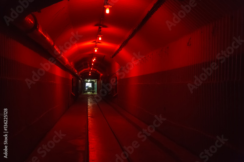 Photo  Bunker from Cold War, object an underground submarine base