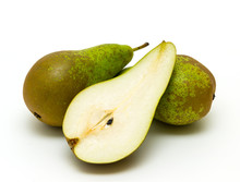 Ripe Appetizing Pears Isolated