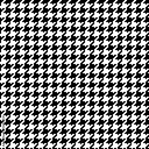 Pixel Houndstooth 1 Wallpaper Mural