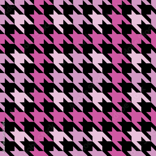 Photo  Plaid Houndstooth in Pink