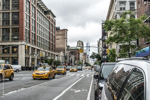 Poster New York TAXI New York City Taxi Streets USA Big Apple Skyline comuter
