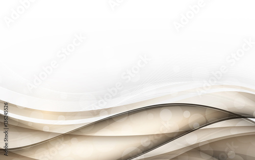 Fototapeta Abstract light background with wave. Vector illustration obraz
