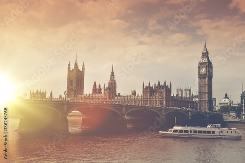 London Big Ben Sunset Tableau sur Toile