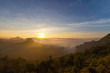 mountains in morning clounds in Mae Hong Son 06