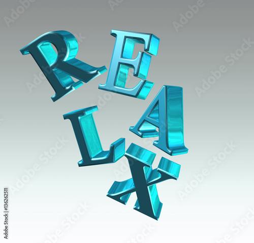 Valokuva  Relax lettering - 3D illustration