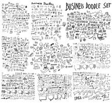 Business Doodles Sketch Eps10 ...