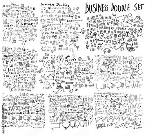 Business doodles sketch eps10 vector Wall mural