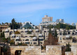 modern buildings of west Jerusalem viewed from the ramparts of the Old City