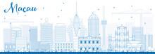 Outline Macau Skyline With Blu...