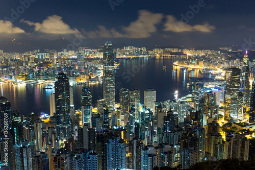 Foto op Canvas Seoel Hong Kong cityscape at night