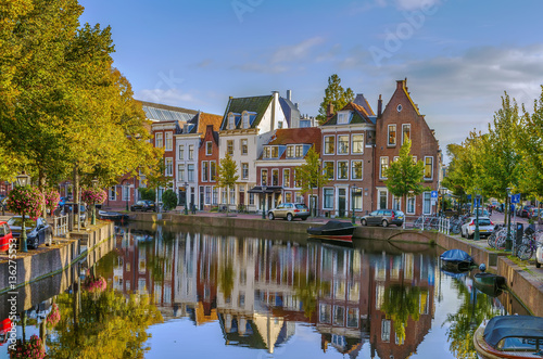 Channel in Leiden, Netherlands