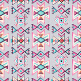 Watercolor ethnic seamless pattern. - 136281170