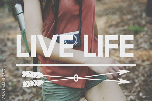 Fotografie, Obraz  Live Your Life YOLO You Only LIve Once Concept