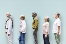 Diversity Senior People Friend...