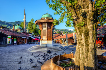 Sebilj fountain in the Old Town of Sarajevo, Bosnia