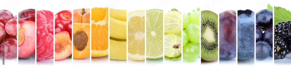 Fototapety, obrazy: Früchte Frucht Obst Gruppe Sammlung Farben bunt Orange Beeren