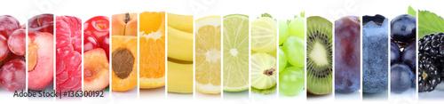 Fotografie, Obraz  Früchte Frucht Obst Gruppe Sammlung Farben bunt Orange Beeren