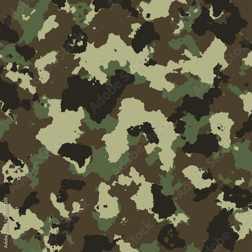 Fotografía  vector military camouflage pattern in green colors