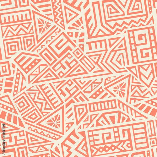 Foto auf AluDibond Boho-Stil Aztec Vector Seamless Pattern