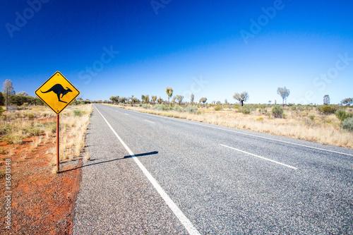 Poster Océanie Australian Road Sign