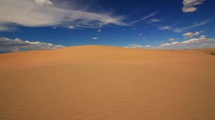 Fototapeta na wymiar Sunset in the Gobi Desert. Mongolia