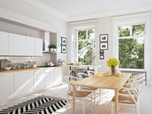 Modern Nordic Kitchen In Loft ...