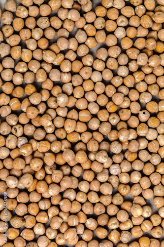 Aluminium Prints Macro shot of soybeans isolate on a background