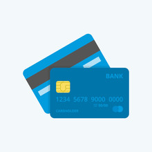 Credit Card Icon. Front And Ba...