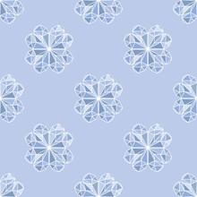Texture Continua Di Quadrifoglio, Sfondo Giometrico Porta Fortuna Di Colore Blu Chiaro E Azzuro Per La Decorazione Della Stanza Del Bambino