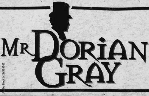 "Fotografie, Obraz  Written in black  ""Mr. Dorian Grey"""