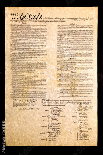 Fotografia Constitution of the United States