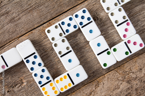 Fotografia  Domino concept selection