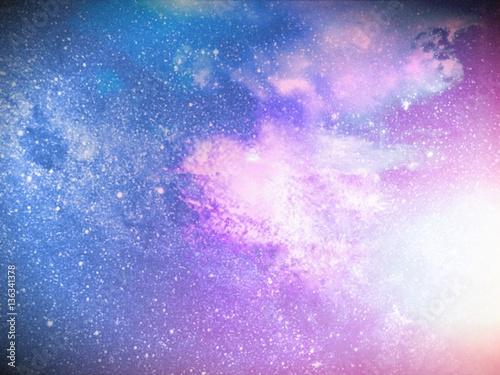 Keuken foto achterwand Purper Planet Space Cosmic Sci-Fi Abstract