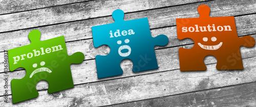 Fotografie, Obraz  Business Concept: Problems, Ideas & Solutions