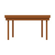 wooden table icon over white background. colorful design. vector illustration