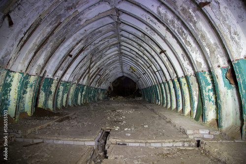 Photo Abandoned and rotten caponier on Soviet military base